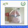 China Washable Promotional Drawstring Clear Plastic Bag for laundry.