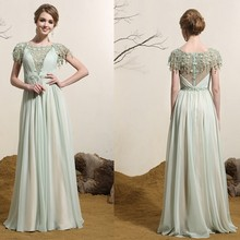 wholesale Custom made Siduo 80163 A- line floor length evening dress / appliques party dress with lace