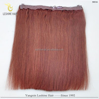 New Beauty Hot Sale Best Supplier Top Quality No Shedding No Tangle Remy Human Hair halo russian double drawn