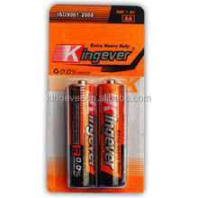 2014 Dry cell battery manufactrer R6 cheap AA batteries