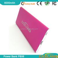 2015 portable external leader in world 6000mah rohs power bank/2015 new gadget 6000mah notebook power bank