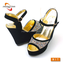 China summer 2015 new style high heel wedge sandals