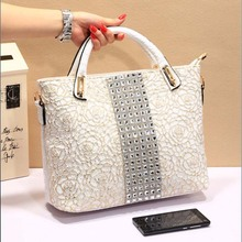 Bz2362 Korean crocodile handbag lace printed diamonds elegant women handbags