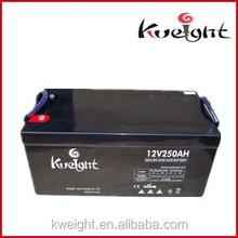 12v 250Ah Maintenance free gel battery lead acid stoarge battery for solar system
