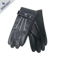 Best quality new style new design leather skeleton gloves