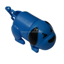 Dog shaped pet poop bag dispenser