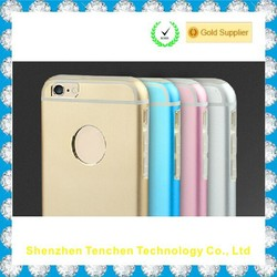 Luxury aluminum metal case for apple iPhone 6, for iphone 6 metal case, for iPhone 6 TPU case
