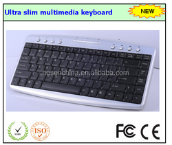 2015 new design Ultra slim multimedia wired keyboard with USB