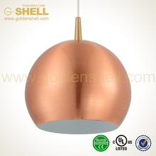 Popularity hot sale gold colour suspension light fitting mini lamp
