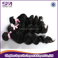 Good quality remy loose curl weave