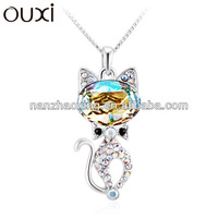 Different types of necklace chains jewelry made with Swarovski Elements