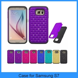 For Samsung S7 case single defender hard back cover bling star Shockproof Rugged Hybrid defender Case Cover for Samsung S7