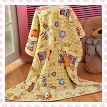 china supplier home textile wholesale double children cheap cartoon blanket spain,knitted printed blanket baby