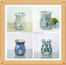 11Dx14H size Mosaic Candle Oil Diffuser Home Essential Small Decorative Mosaic Glass Fragrance Lamp