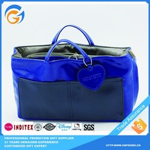Big oem Production Leather Tote Bag with Outside Pockets