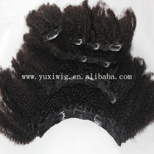 Afro Kinky Curly Clip In Hair Extensions Top 10a Mongolian Kinky