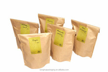 spice paper bag with adhesive stripe, spice powder paper packaging, high-quality spice paper bag with plastic