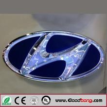 Customized Acrylic Base LED Car Logo, Car Logo Sign with LED Insided