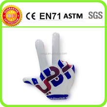 Custom cheering giant inflatable hand with logo printing