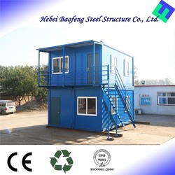 High quality metal safe flat pack cabin prefabricated house