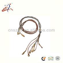 цветные плетеные ожерелья шнуры
