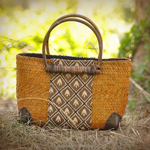 Hot selling cheap ladies handbag thailand straw bag for women