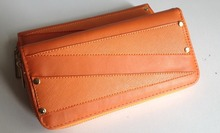 slim Wallet Long Card Holder Case Purse Handbag Leather Clutch wallet with Rivets