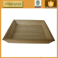 Hot Sale FSC Antiuqe homemade disposable wood bamboo serving fast food bed tray