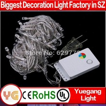 CE ROHS approved 10m 100leds 110/220v voltage outdoor IP44-65 9color christmas light trade in lowes