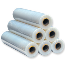 Plastic stretch film for manual wrapping