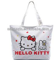 Very cheap nylon,canvas women hello kitty bag