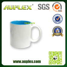 11oz top grade inner colourful animal handle sublimation coated mugs