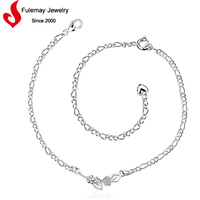 China wholesale tattoo silver anklets for kids
