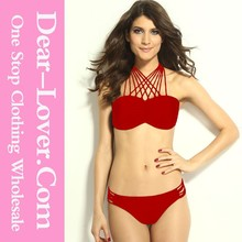 Latest Fashion Women Sexy Rope Highlight Red G String Bikini