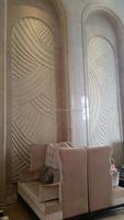 Interior decorative artificial stone UV 3D wall panel/3D wall Board