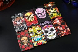 human skeleton rubber plastic case for iphone 6 4.7""