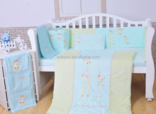 lovely giraffe applique embroidery baby bedding set Will I be big one day