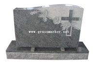 New American Monument Grey Color, Grey Granite Monument Tombstone