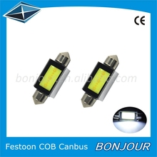 Guangzhou accessories for car 31/36/39/41mm canbus festoon cob led lighting