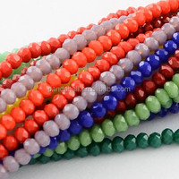 Mixed Faceted Abacus Spray Painted Imitation Jade Glass Beads Strings