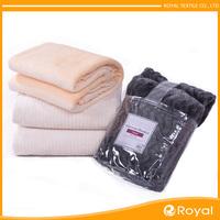 Pure Very cozy China Cheap Plain flag fleece blanket