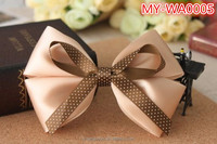 cute cheap wholesale Dish made long ribbon bow hair accessories MY-IA0005