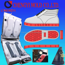 upper calfskin white/black/red leather with rubber shoe one station service shoe upper making and shoe sole mold oem factory