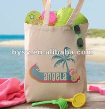 Fashionable beach cotton bag/Custom cotton shopping bag /cotton handled bag