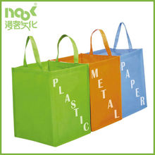 Three color non woven bags for waste sorting with PP cardboard