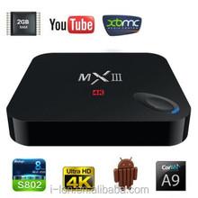 2015 hot-selling quad-core MXIII TV BOX Amlogic S812 2GB/8GB android TV BOX