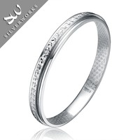 925 sterling silver jewelry solid classical Bangle for women