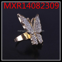 Alloy diamond trade jewelry Korean female butterfly ring exaggerated features retro styling and creative rings