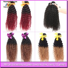 Natural color 33 curly indian remy hair 32 inch curly hair extensions