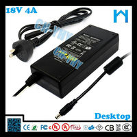 Top quality for led bar 18V 4a ac to dc switch adapter 72w